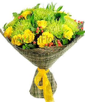 Букет желтых роз «Бомбей»