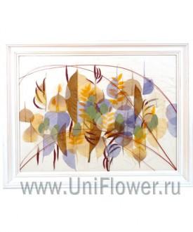 Романс - коллаж из сухоцветов
