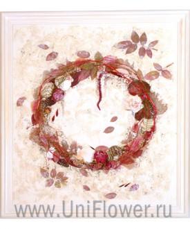 Сотворение мира - коллаж из сухоцветов