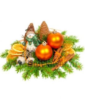Оранжевое настроение - новогодняя композиция