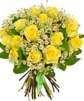 Букет 19 желтых роз