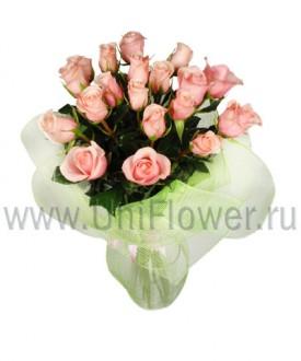 Букет 19 розовых роз «Джульетта»