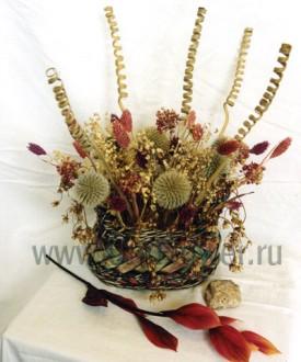 Ноябрьский этюд - композиция из сухоцветов