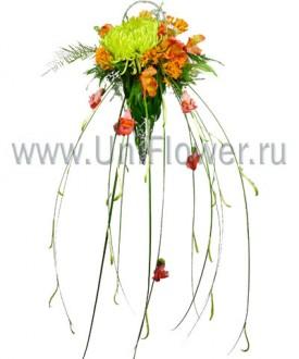 Рандеву - букет из хризантем