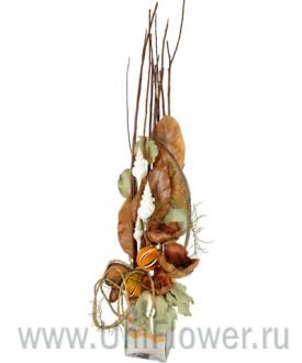 Осеннее настроение - композиция из сухоцветов