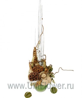 Фламенко - композиция из сухоцветов