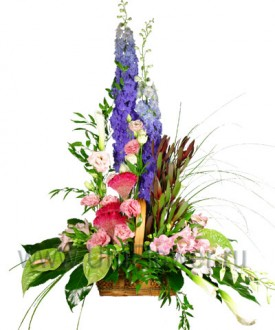 Богема - букет из экзотических цветов