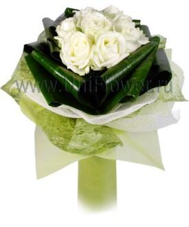 Букет белых роз «Катрин»