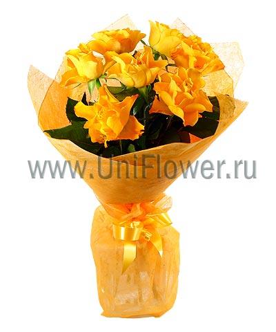 Букет оранжевых роз «Лисичка»