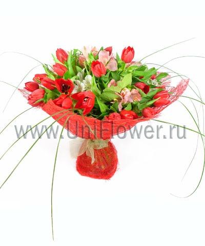Букет тюльпанов «Желанной»