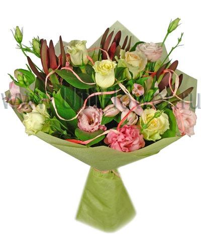 Оригинальный букет роз «Либретто»