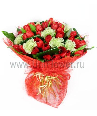 Букет тюльпанов «Фортуна»