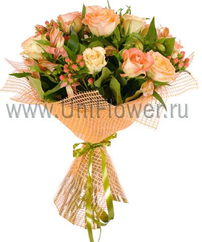 Букет роз «Коктейль»