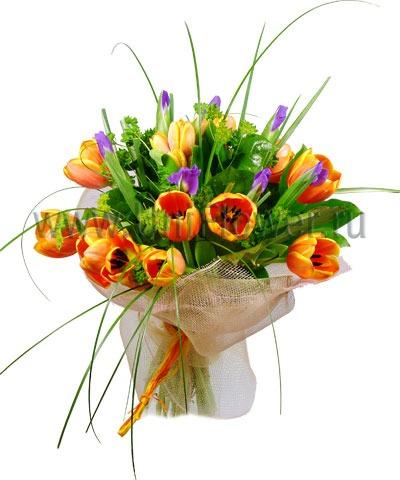 Букет тюльпанов «Оранжевое настроение»
