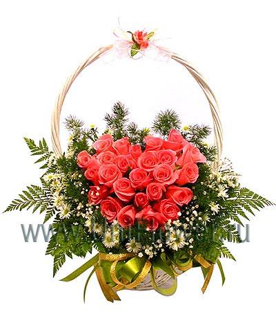 Корзина роз «Любимой»