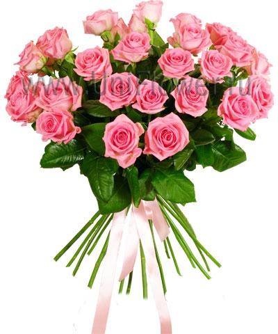 Букет 35 розовых роз