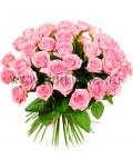 Букет 55 розовых роз