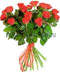 Букет 17 красных роз «Искушение»