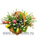 Корзиночка с тюльпанами