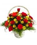 Корзина 23 розы «Аплодисменты»