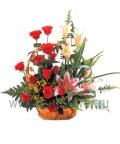 Корзина роз «День рождения»